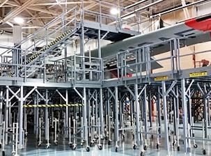 aircraft maintenance docking systems