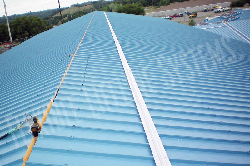 Metal Roof Fall Protection, Trolley Rail Track System ...